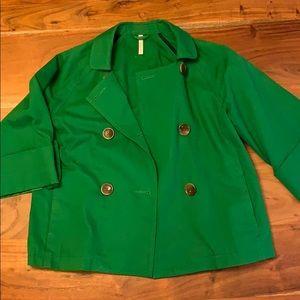 Old Navy Green 3/4 Wide Sleeve Pea Coat